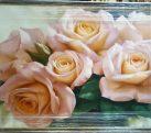 Шелкография «Букет чайных роз» Размер 100х70 см